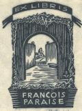 EX LIBRIS FRANCOIS PARAISE (odkaz v elektronickém katalogu)
