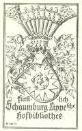 Fürstlich Schaumburg-Lippesche Hofbibliothek (odkaz v elektronickém katalogu)