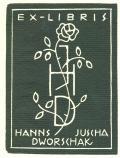 EX-LIBRIS HANNS JUSCHA DWORSCHAK (odkaz v elektronickém katalogu)
