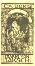 EX LIBRIS MARIE VON JAKSCH (odkaz v elektronickém katalogu)
