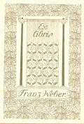 Ex libris Franz Weber (odkaz v elektronickém katalogu)