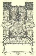 HOEFKEN VON HATTINGSHEIM (odkaz v elektronickém katalogu)