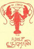 EX LIBRIS ADOLF ESSIGMANN (odkaz v elektronickém katalogu)
