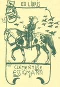 EX LIBRIS CLEMENTINE ESSIGMANN (odkaz v elektronickém katalogu)