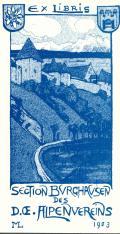 EX LIBRIS SECTION BURGHAUSEN DES D.OE.ALPENVEREINS (odkaz v elektronickém katalogu)
