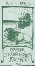 EX LIBRIS PFARRER JOHANN MÜLLER LANGENAU (odkaz v elektronickém katalogu)
