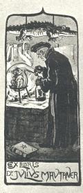 EX LIBRIS Dr. JULIUS MAUTHNER (odkaz v elektronickém katalogu)