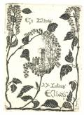 Ex libris Dr. Julius Elias (odkaz v elektronickém katalogu)