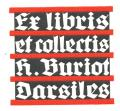 Ex libris et collectis H. Buriot Darsiles (odkaz v elektronickém katalogu)