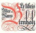 Ex libris Alice u. Marco Birnholz (odkaz v elektronickém katalogu)