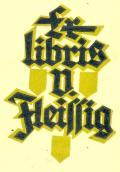 Ex libris V. Fleissig (odkaz v elektronickém katalogu)