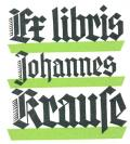 Ex libris Johannes Krause (odkaz v elektronickém katalogu)