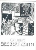 EX LIBRIS SIEGBERT COHN (odkaz v elektronickém katalogu)