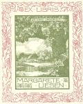 EX LIBRIS MARGARETE LIESEN (odkaz v elektronickém katalogu)