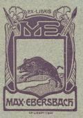 EX LIBRIS MAX EBERSBACH (odkaz v elektronickém katalogu)