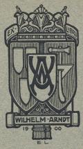 EX LIBRIS WILHELM ARNDT 1900 (odkaz v elektronickém katalogu)