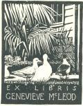EX LIBRIS GENEVIEVE Mc LEOD (odkaz v elektronickém katalogu)