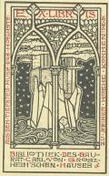EX LIBRIS BIBLIOTHEK DES BAURAT CARL VON GROSZHEIM´ SCHEN HAUSES (odkaz v elektronickém katalogu)
