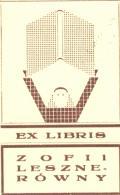 EX LIBRIS ZOFII LESZNERÓWNY (odkaz v elektronickém katalogu)