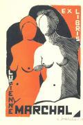 EX LIBRIS LUCIENNE MARCHAL (odkaz v elektronickém katalogu)