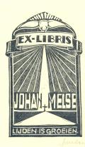 EX-LIBRIS JOHAN MELSE (odkaz v elektronickém katalogu)
