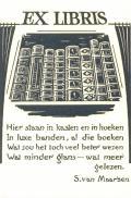 EX LIBRIS S.van Maarsen (odkaz v elektronickém katalogu)