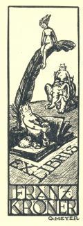 EX LIBRIS FRANZ KRÖNER (odkaz v elektronickém katalogu)