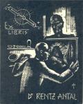 Ex LIBRIS Dr. RENTZ ANTAL (odkaz v elektronickém katalogu)