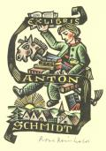 EX LIBRIS ANTON SCHMIDT (odkaz v elektronickém katalogu)