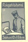 Kriegsbücherei Stabsartz Dr. J. Blum (odkaz v elektronickém katalogu)