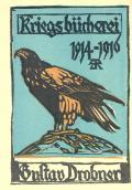 Kriegsbücherei 1914-1916 Gustav Drobner (odkaz v elektronickém katalogu)