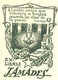 EX-LIBRIS J. AMADES (odkaz v elektronickém katalogu)