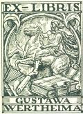 EX-LIBRIS GUSTAWA WERTHEIMA (odkaz v elektronickém katalogu)