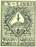 EX-LIBRIS WANDY I TADEUSZA WARDEJN-ZAGORSKICH (odkaz v elektronickém katalogu)