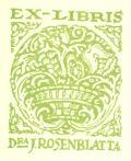 EX-LIBRIS DRA J. ROSENBLATTA (odkaz v elektronickém katalogu)