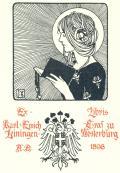 Ex-Libris Karl Emich Graf zu Leiningen-Westerburg (odkaz v elektronickém katalogu)