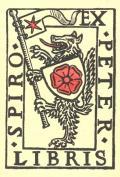 EX LIBRIS PETER SPIRO (odkaz v elektronickém katalogu)