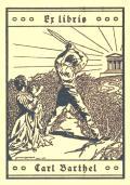 Ex libris Carl Barthel (odkaz v elektronickém katalogu)