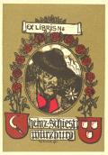 EX LIBRIS Heinz Schiestl Würzburg (odkaz v elektronickém katalogu)