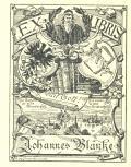 EX LIBRIS Johannes Blanke (odkaz v elektronickém katalogu)