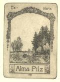 Ex-libris Alma Pilz (odkaz v elektronickém katalogu)