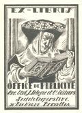 EX-LIBRIS OFFICE DE PUBLICITE Anc. Etab. J. Lelegue et l Editeurs Societe Cooperative 26. Rue Neuve Bruxelles (odkaz v elektronickém katalogu)