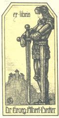 ex libris Dr. Georg Albert Becker (odkaz v elektronickém katalogu)