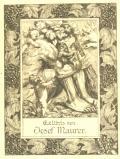 Exlibris von Josef Maurer (odkaz v elektronickém katalogu)