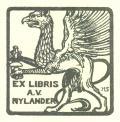 EX LIBRIS A.V. NYLANDER (odkaz v elektronickém katalogu)