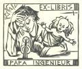 EX-LIBRIS PAPA INGENIEUR (odkaz v elektronickém katalogu)