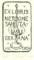 EX LIBRIS NERONE SANTAGIULIANA VICENSA (odkaz v elektronickém katalogu)