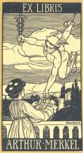 EX LIBRIS ARTHUR MERKEL (odkaz v elektronickém katalogu)