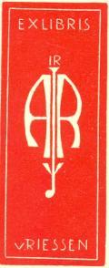 EXLIBRIS IR A.R.J. v RIESSEN (odkaz v elektronickém katalogu)