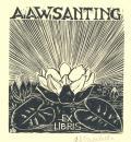 A.A.W.SANTING EX LIBRIS (odkaz v elektronickém katalogu)